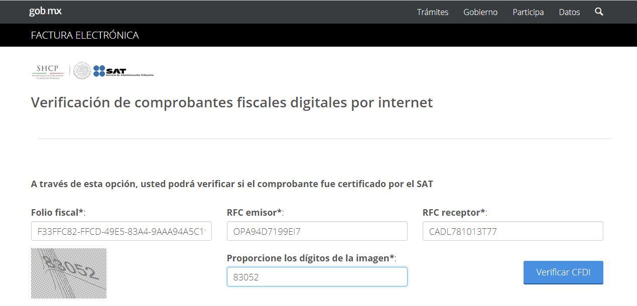 Consulta CFDI datos