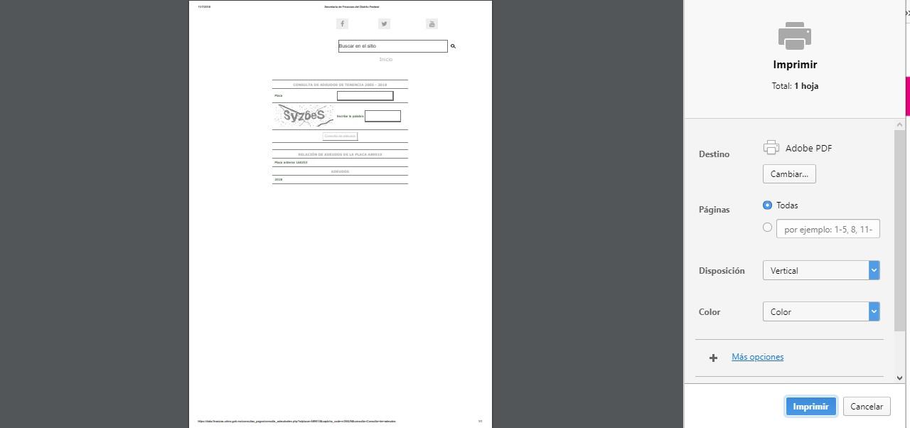 Consulta de adeudo vehicular imprimir