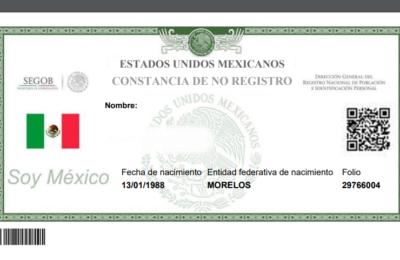 Imprimir certificado de no existencia