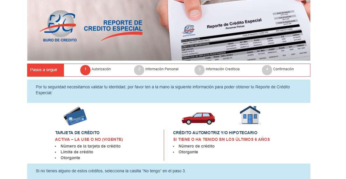 consulta de buró de crédito procedimiento