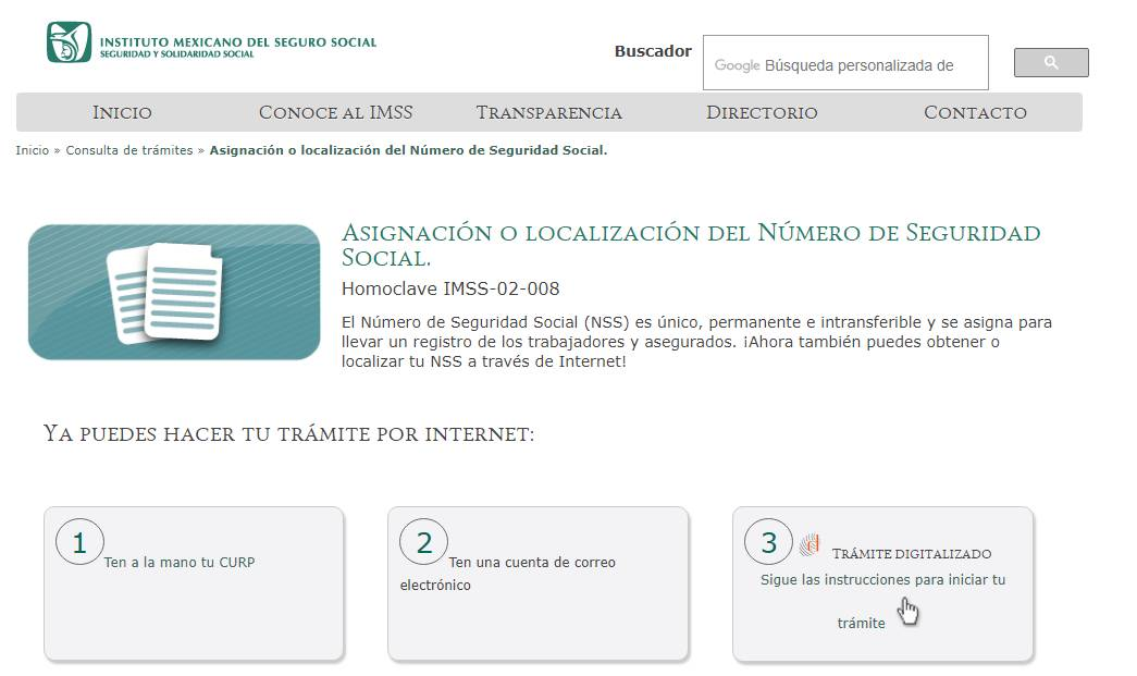 consulta número de seguro social