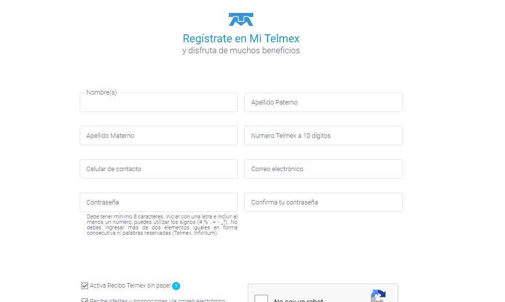 consultar recibo telmex registro