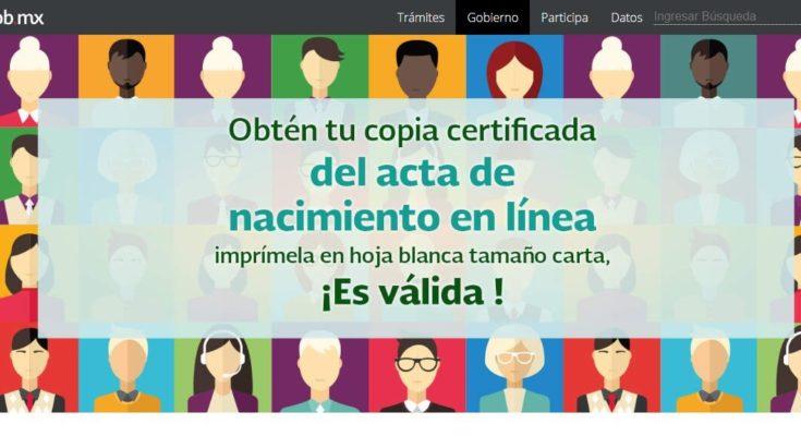 Acta de nacimiento certificada