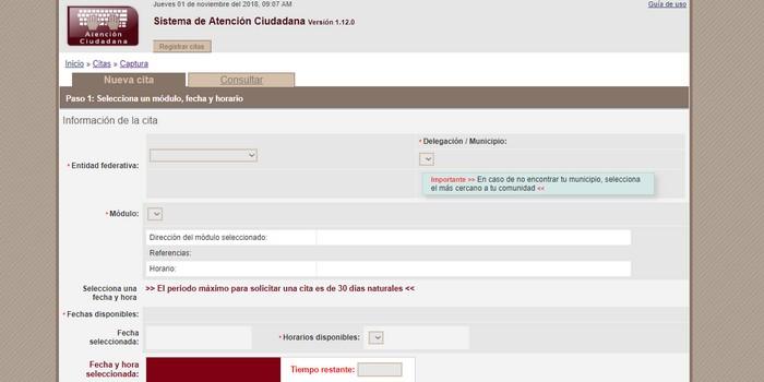 Asignación de cita INE Veracruz
