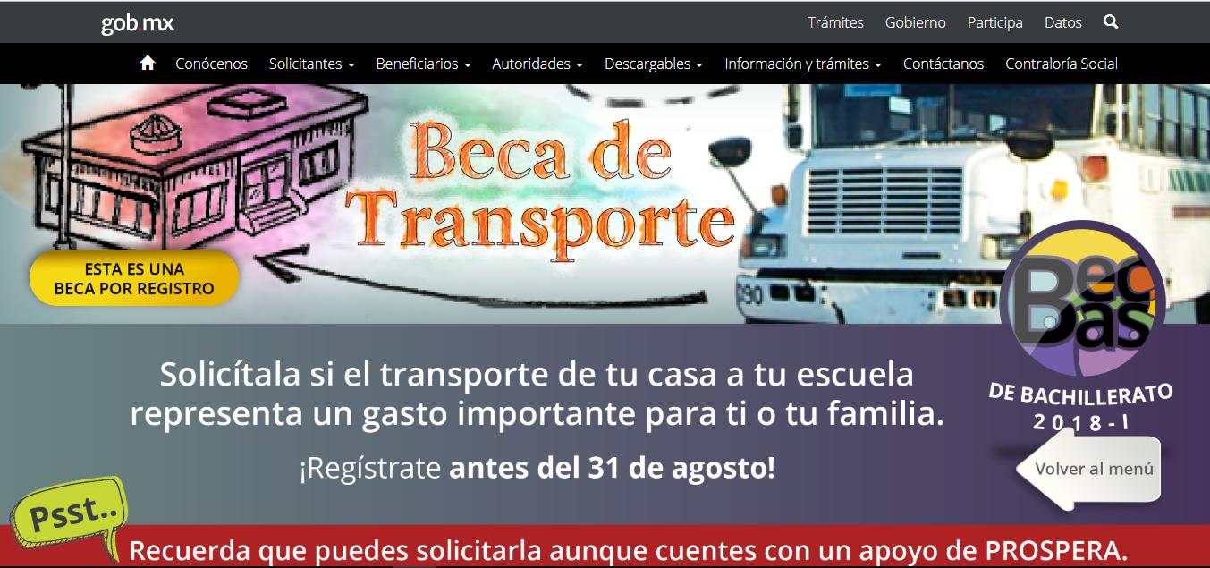 Beca transporte