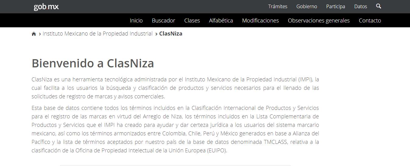 Clasificacion Niza