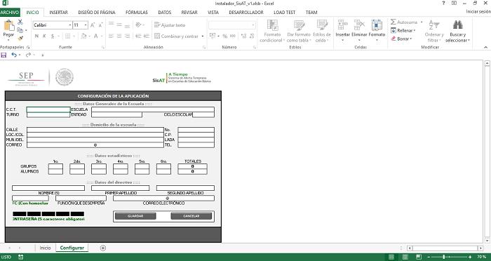 Configurar aplicacion sisat