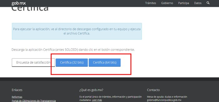 Descargar certificado SAT