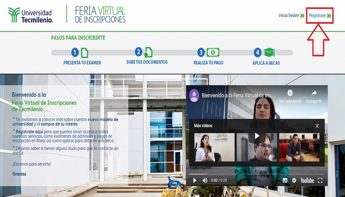 Feria Virtual de Inscripciones