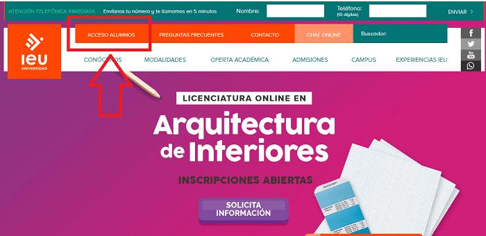 Ingreso Portal IEU