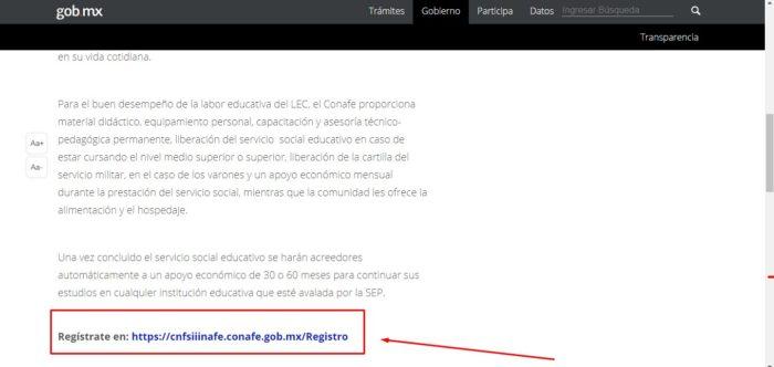Link de registro