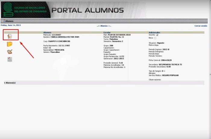 Portal Alumnos
