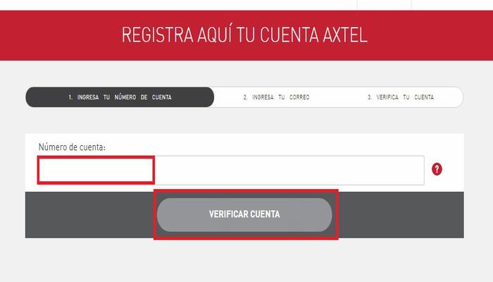 Registrar la cuenta