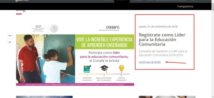 Registrate en Conafe
