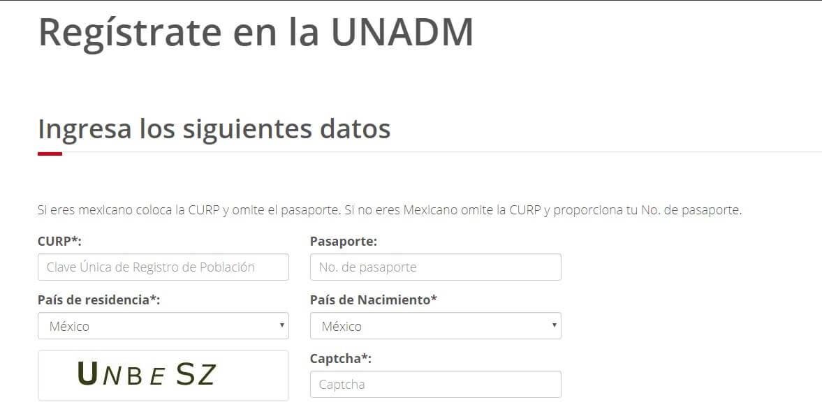 Registrate en la UnaADM