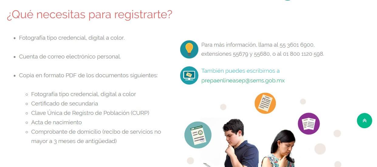 Requisitos Prepa en línea