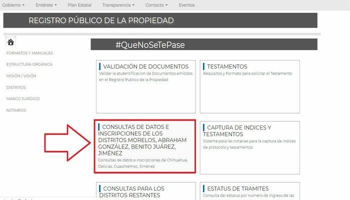 Registro Público Chihuahua
