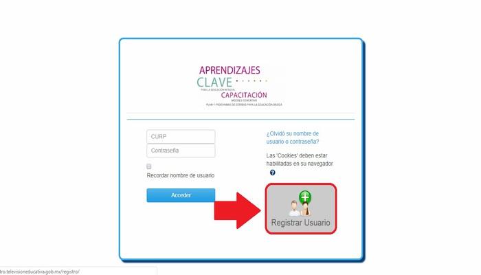 Registrar nuevo usuario