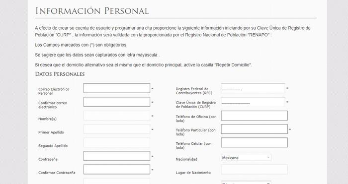 formulario de registro CNSF