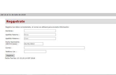 formulario de registro COBAQRO