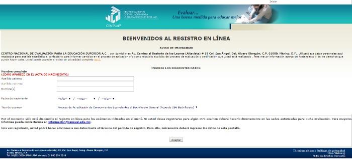 planilla de registro