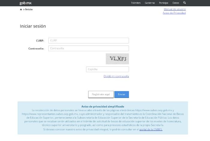 portal de registro